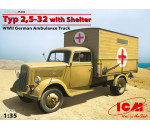 ICM - Typ 2,5-32 with Shelter, WWII German Ambulance Truck