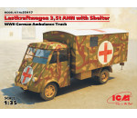 ICM - Lastkraftwagen 3,5 t AHN with Shelter, WWII German Ambulance