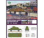 Unimodels UMT643 - Railway platform with BT-5 tank
