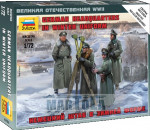 Zvezda 6232 - GERMAN HQ WINTER - 4 figures